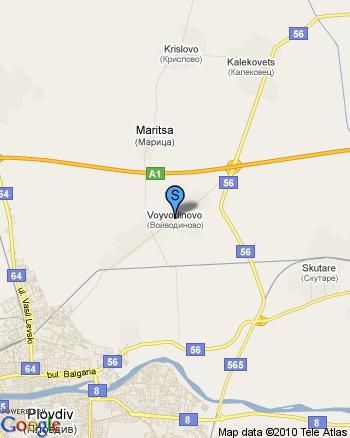 30 дка овощна градина - ябълки и праскови, на 5 км. от Пловдив, до магистралата и конната база в с. Войводиново