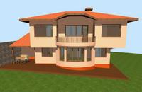 къщи 2бр. по 140 кв.м на два  етажа - проект на  терен от по  450 кв.м