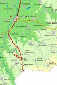 земя по пътя за ГКПП Лесово на 10 км