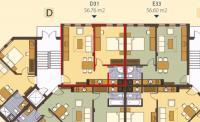 Продава евтин двустаен луксозен апартамент,60м2,в нова сграда затворен тип,на 4км от кк Албена