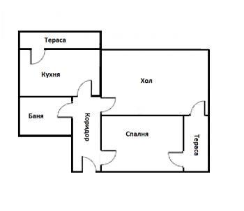 Продава двустаен апартамент, Бесапара (до Била), Пазарджик