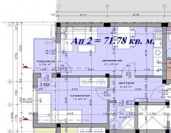 Продавам двустаен апартамент Ново строителство