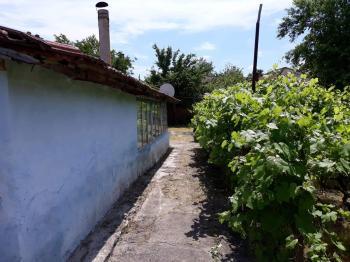 Дворно място със стара керпичена къща. В центъра на село Попина и на метри от река Дунав