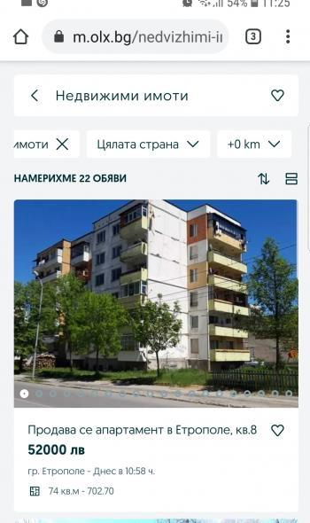 Продава Двустаен апартамент в Етрополе, квартал 8, област София